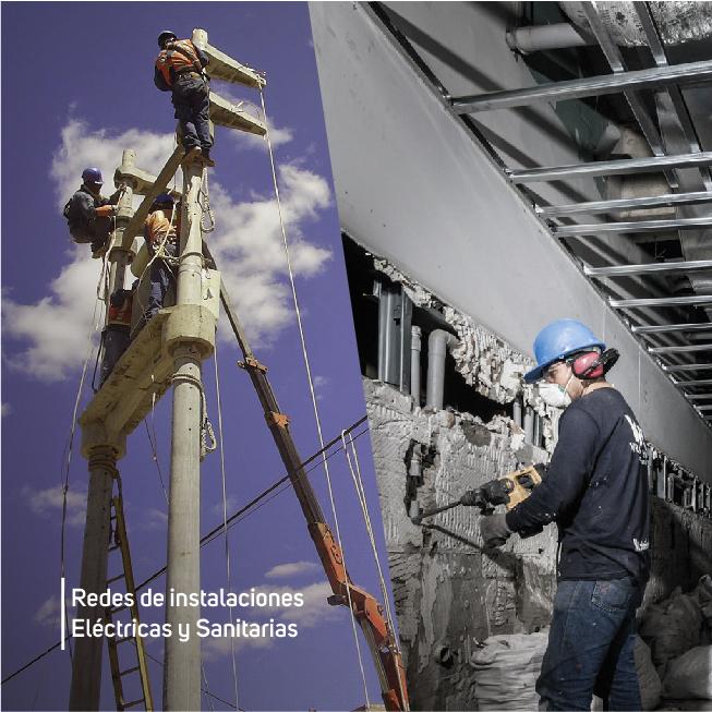 Redes de instalaciones Eléctricas y Sanitarias