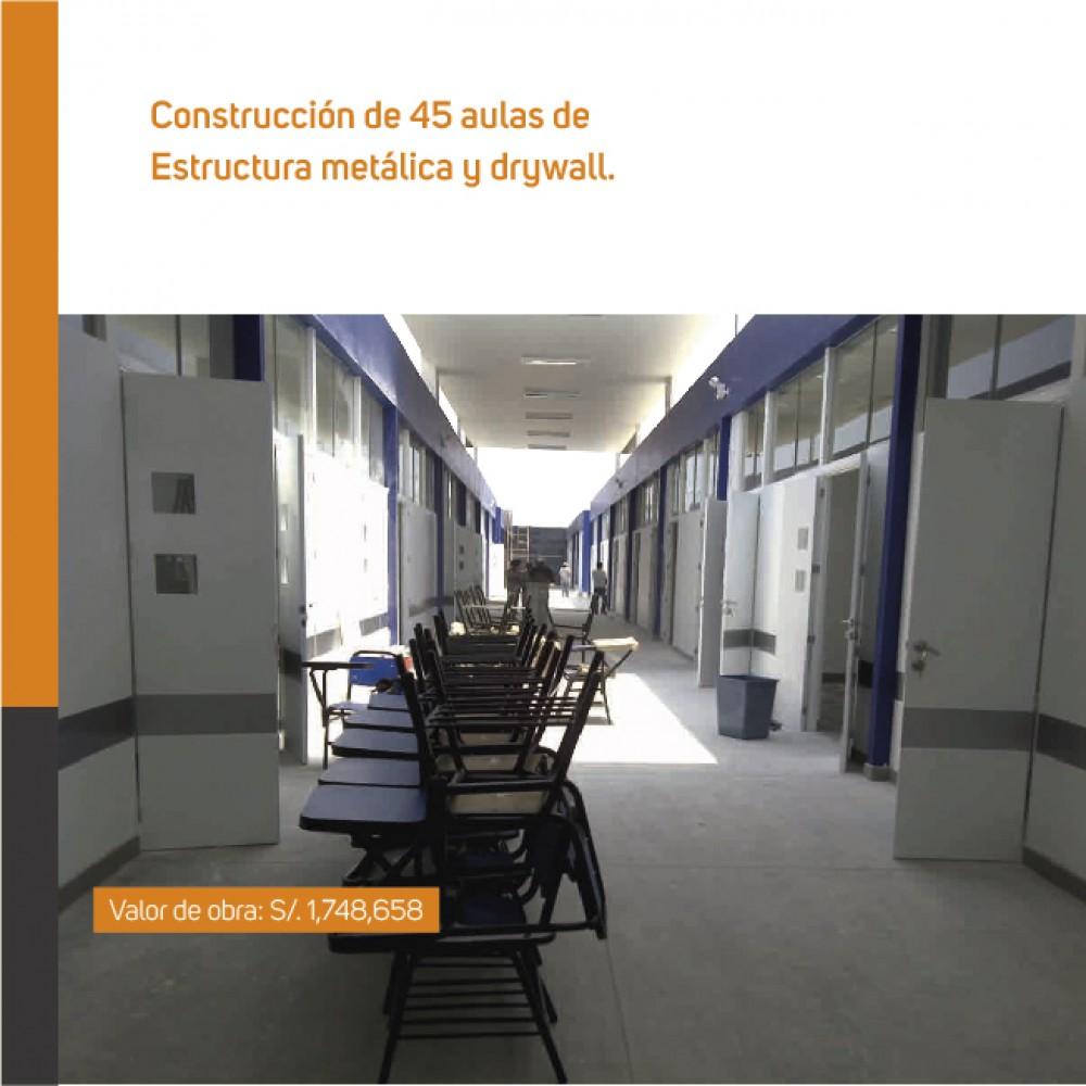 Construcción de 40 aulas de estructura metálica y drywall