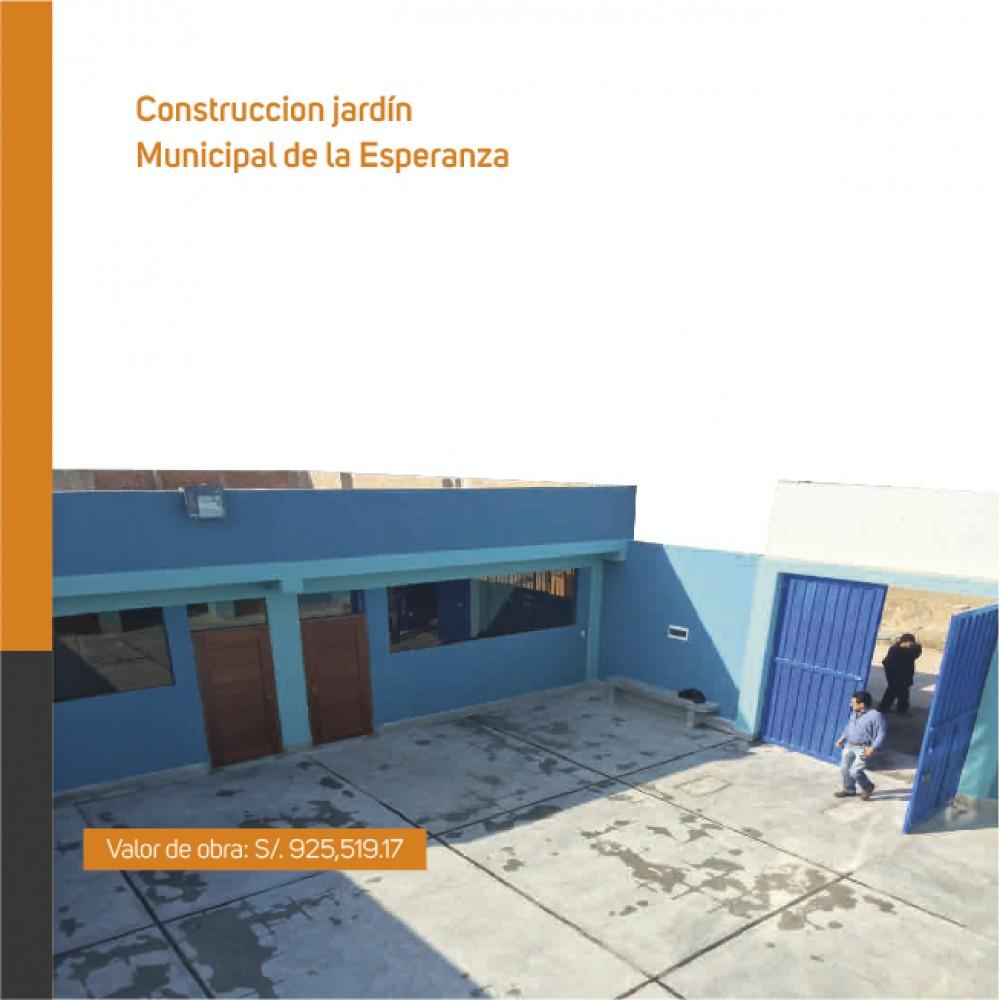 Construcción jardín Municipal de la Esperanza