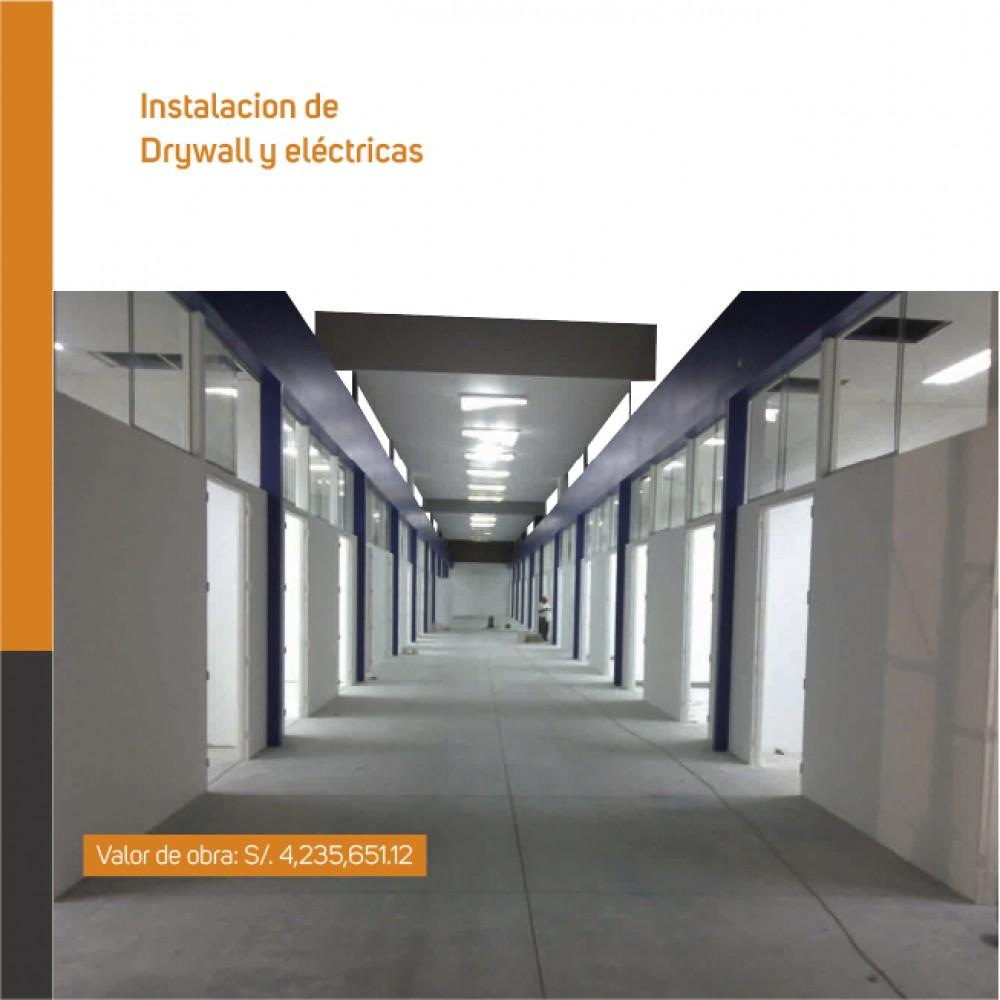 Instalación de drywall y eléctricas