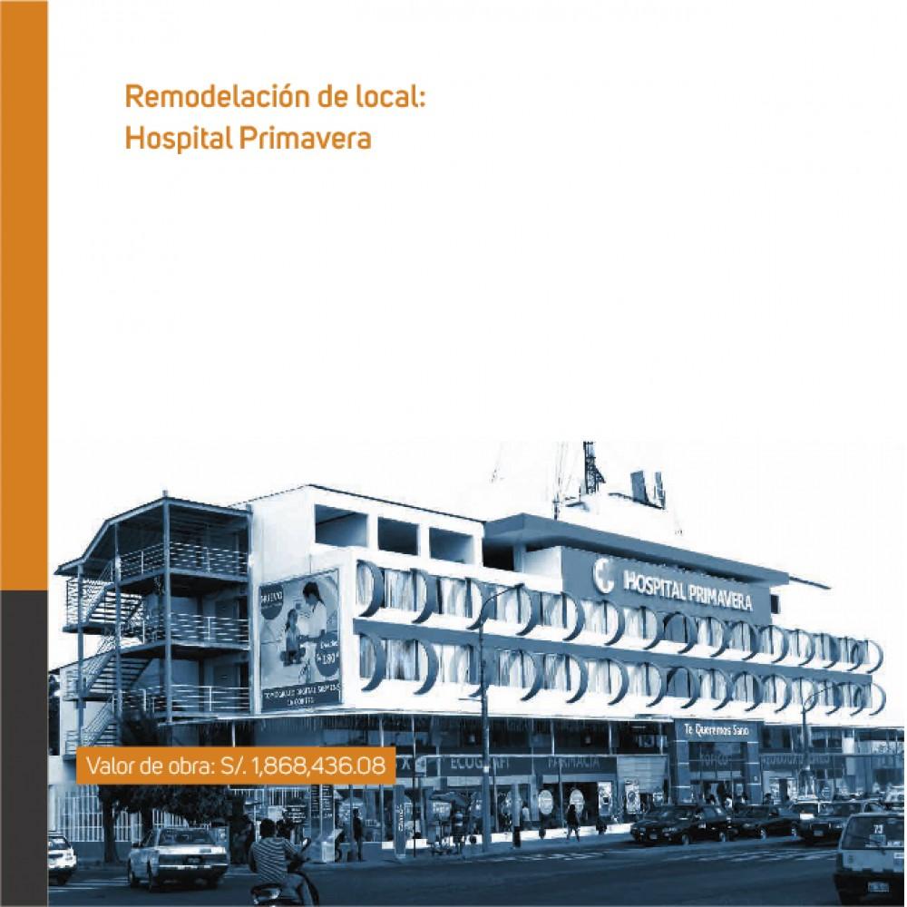 Remodelación de local: Hospital Primavera