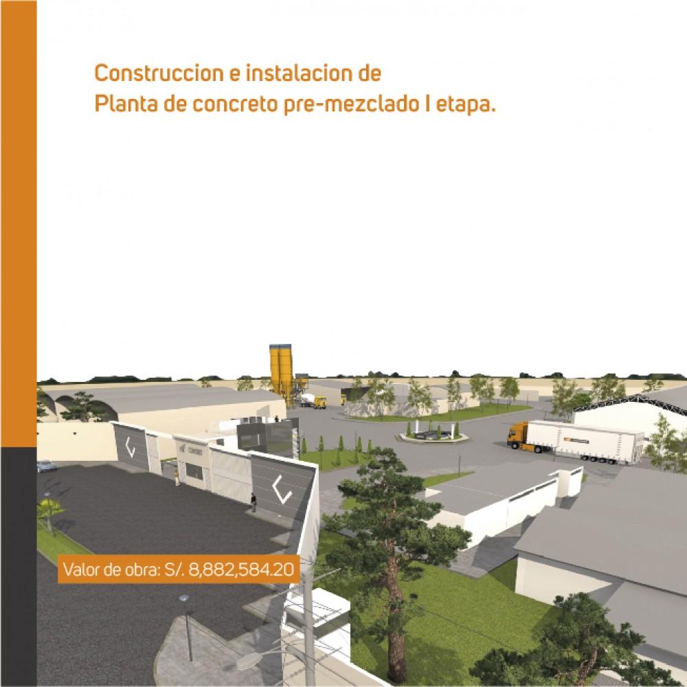 Construcción e Instalación de Planta de concreto pre-mezclado I etapa